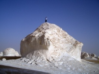 Climbing in the White Desert