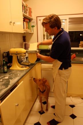 Tala and the KitchenAid making pasta