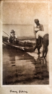My grandfather fishing on Ngapali Beach in 1934