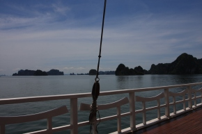 The view from the boat - the Red Dragon