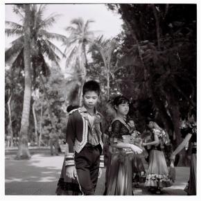 Young Vietnamese flamenco dancers taken by a rolleiflex