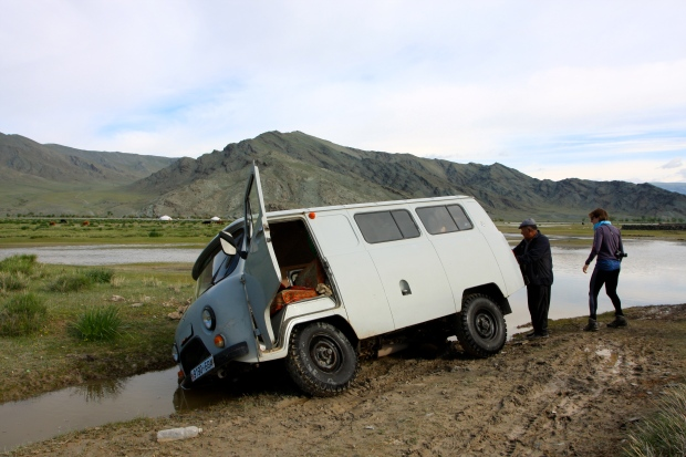 Our Russian van - stuck