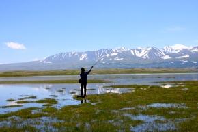 Fly fishing on Khurgan Nuur
