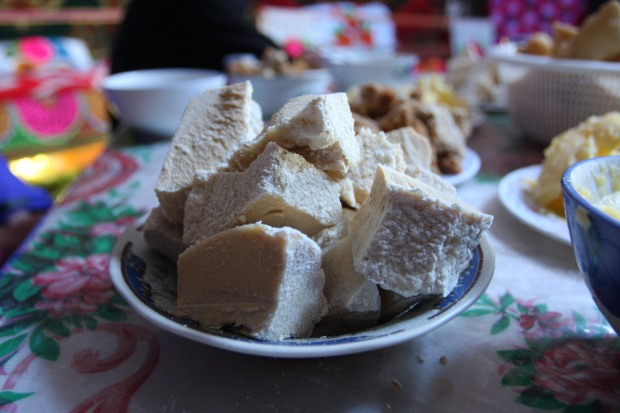dried curd in the ger