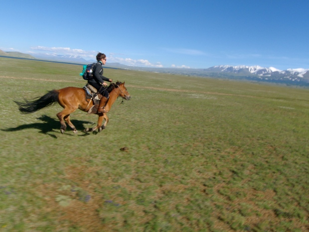 Me - galloping home on Ginger