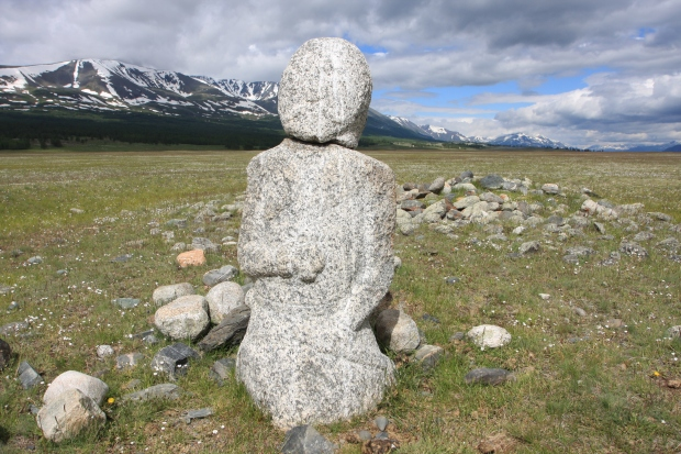 An ancient stone man
