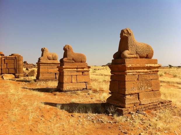 The temples at Naga - now miles from the Nile which suggest it may have changed its course in the past.