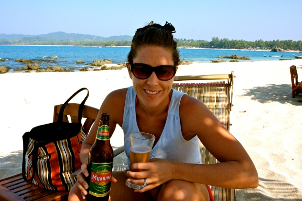 Ice cold myanmar beer - perfect!