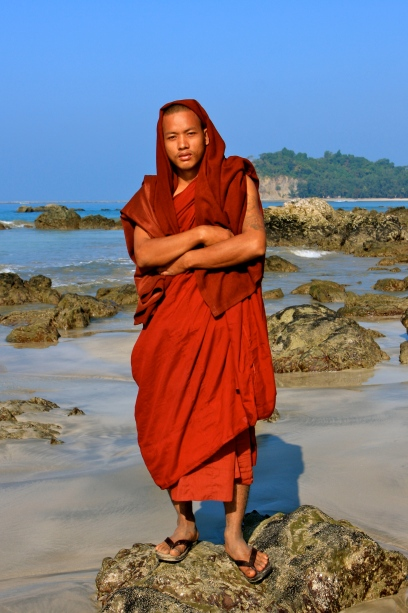 A monk who when I asked if I could take a photo got posing as if he was on a Vogue shoot!