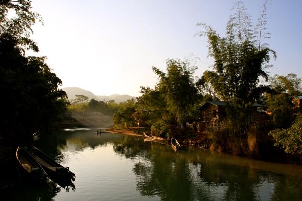 Inthein village just before the sun went down